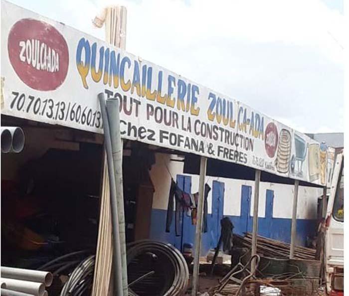Kabala : la quincaillerie Zoulca-Ada victime de braquage