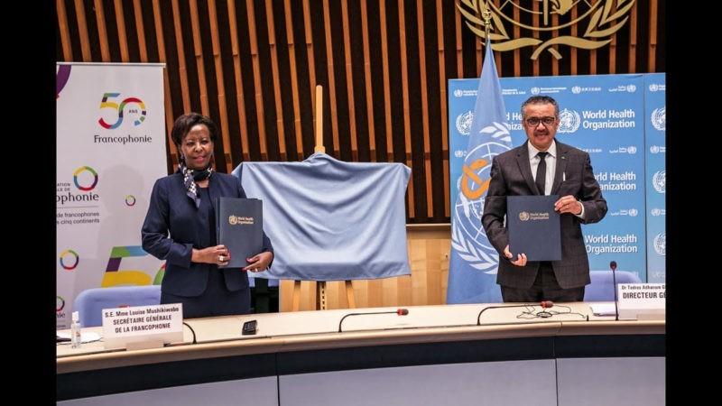 Renforcement de l'accès à la santé dans les pays francophones : l'OMS et l'OIF signent un mémorandum d'entente