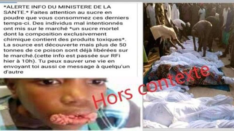 #FactCheck: ces images ne montrent pas des victimes d'un produit toxique au Mali